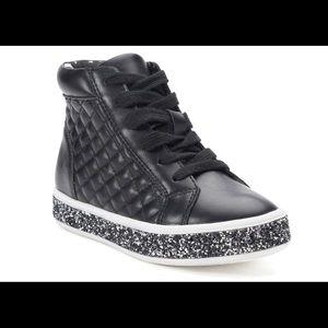 So girl's Peyton black high top shoes 3